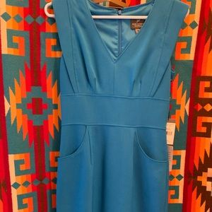 Adrianna Papell Blue Sheath Dress Size 2